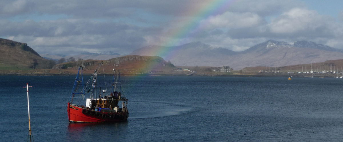 Rainbow in Oban Bay